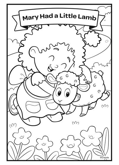 13++ Mary had a little lamb coloring page download HD