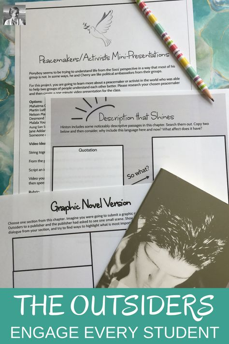 The Outsiders Novel Study Print And Go You Can Do It New