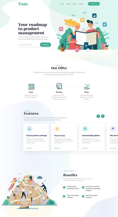 54 Inspiring Landing Page Design Ideas