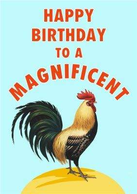Funny Magnificent Coq Friend Birthday Card Sponse Ad Sponsored Coq Magnificent Funny Card