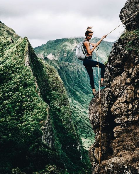 Rock climbing, places to travel, places to go, travel destinations, brave g Adventure Awaits, Adventure Travel, Nature Adventure, Places To Travel, Travel Destinations, Foto Casual, Rock Climbing, Mountain Climbing, Climbing Girl