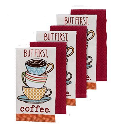 But First Coffee The Big One Kitchen Dish Towel Set Of 6 Review