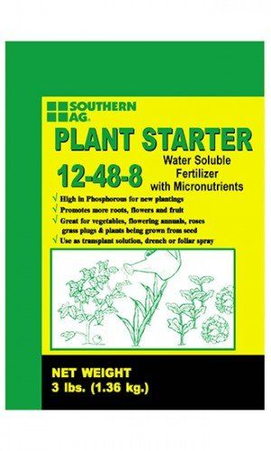 Southern Ag Plant Starter Soluble Fertilizer 12488 In 3 Pound Bags