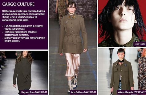 #Trendstop Women's FW 17-18 trends on #WeConnectFashion. Macro theme: Cargo Culture