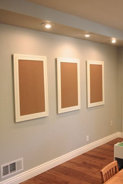 """Cork board in a pretty frame....one for each child....their """"bragging """" area for artwork or school work :)"""