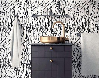 Removable Wallpaper Peel And Stick Self Adhesive Wallpaper Etsy Removable Wallpaper Self Adhesive Wallpaper Wallpaper