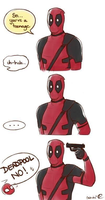Deadpool X Spiderman, Batman Y Superman, Deadpool Comics, Spideypool, Superfamily, Funny Marvel Memes, Marvel Jokes, Funny Comics, Funny Jokes
