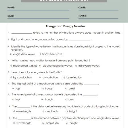 10++ 6th grade science worksheets with answer key Info