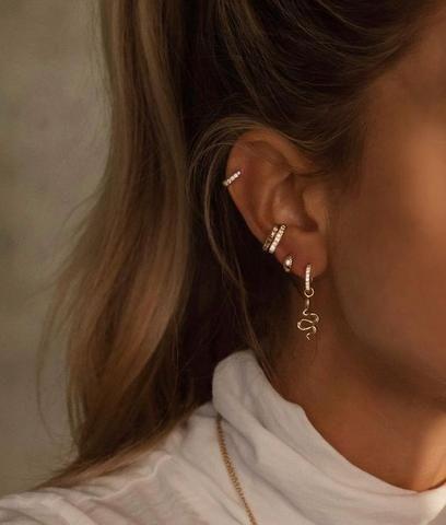 How To Wear Cartilage Helix Hoop Pin Piercing Earrings Inspiration Idea Jewelry Nickel Free Jewelry . - How To Wear Cartilage Helix Hoop Pin Piercing Earrings Inspiration Idea Jewelry Nickel Free Loop St - Ear Piercing Studs, Cute Ear Piercings, Ear Studs, Ear Piercings Conch, Peircings, Cartilage Piercing Stud, Multiple Ear Piercings, Piercing Ideas, Piercings