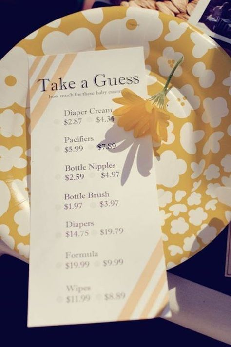 Baby Shower Game - Guess How Much Baby Items Really Cost by sunnyloveme