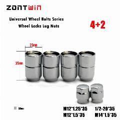4nuts 2keys M12x1 5 Alloy Wheel Nut Locks Anti Sheft Nut For The
