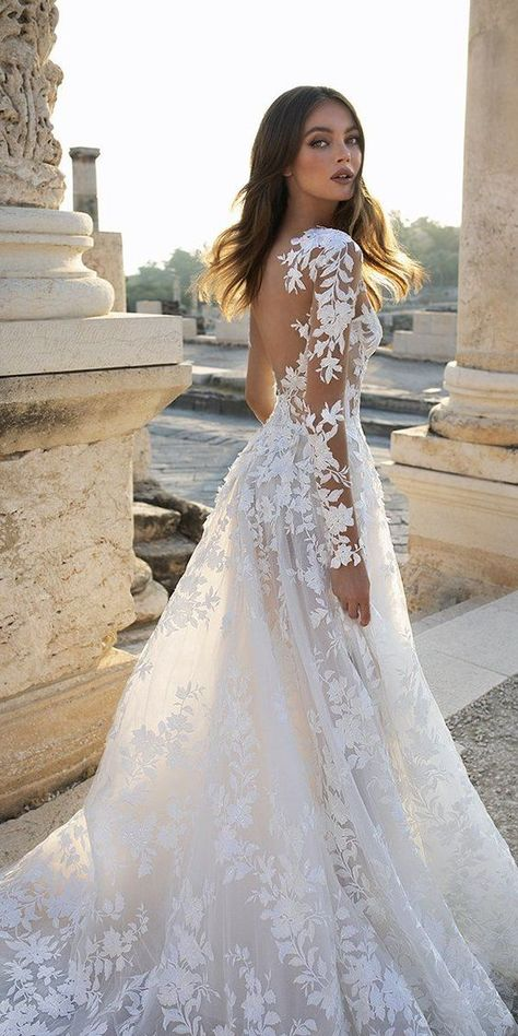 long sleeve wedding dress 24 Gorgeous Spring Wedding Dresses spring wedding dresses a line with illusion long sleeves lace floral pnina tornai Wedding Dress Black, Cute Wedding Dress, Long Wedding Dresses, Wedding Bride, Gown Wedding, Wedding Ideas, Wedding Decorations, Wedding Rings, A Line Wedding Dress With Sleeves