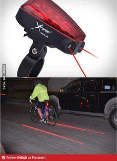Te remind drivers where my boundaries are?!  Brilliant!  XFire Bike Lane Safety Light