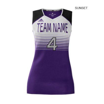 Adidas Women S Mi Team Custom Sublimated Sleeveless Jersey Adidas Women Athletic Tank Tops Women Volleyball