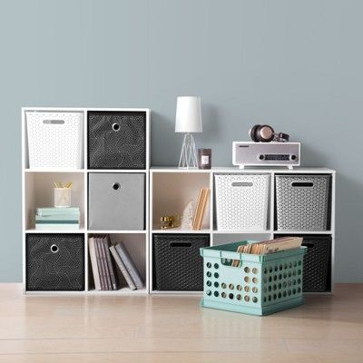 11 Y Weave Bin Gray Room Essentials Cube Storage Cube Storage Bins Room Essentials