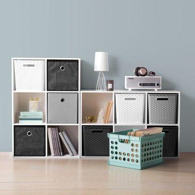 11 Y Weave Bin Gray Room Essentials Cube Storage Cube Storage Bins Room Essentials
