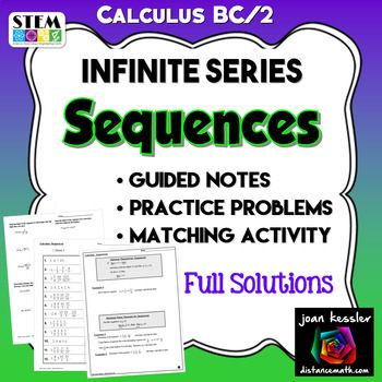 Calculus BC Calculus 2 Sequences - Infinite Series Unit | AP