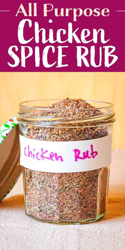 original_title] – Sarah Rolfes The Best Dry Rub for Chicken This premade All Purpose Chicken Spice Rub is great on every part of the chicken! You can even sprinkle it on roasted potatoes or vegetables. Homemade Spices, Homemade Seasonings, Dry Rub For Chicken, Roast Chicken Rub, Chicken Fajitas, Bbq Rub Recipe, Diy Recipe, Dry Rub Recipes, Sauce Recipes