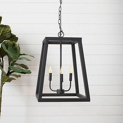Black Metal Open Architecture Pendant Light In 2021 Black Hanging Lighting Metal Ceiling Lighting Black Pendant Light Kitchen