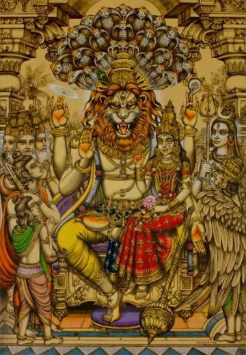 Lakshmi Narasimha Prahlad Lord Vishnu Wallpapers Hindu Art Gods And Goddesses