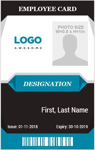 10 Amazing Employee Vertical Size Id Cards For Free Microsoft Word Id Card Templates Id Card Template Badge Template Card Templates Printable