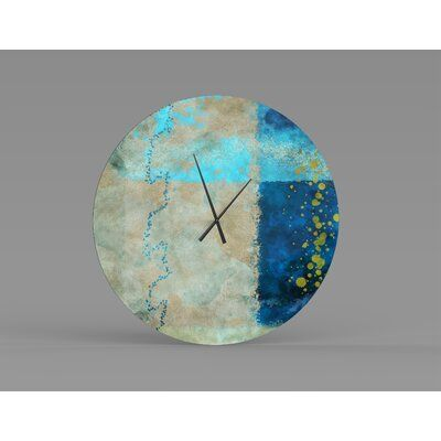 Orren Ellis Oversized Maira Wall Clock Wayfair In 2020 Wall Clock Chic Wall Clock Mid Century Wall Clock