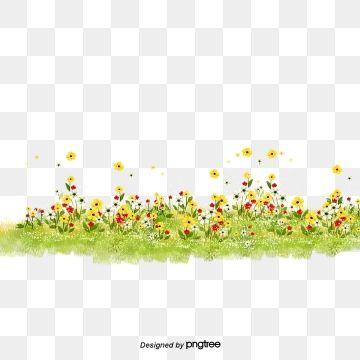 Flowers Grass Spring Bloom Flowers Grass Spring Bloom Clipart Latar Belakang