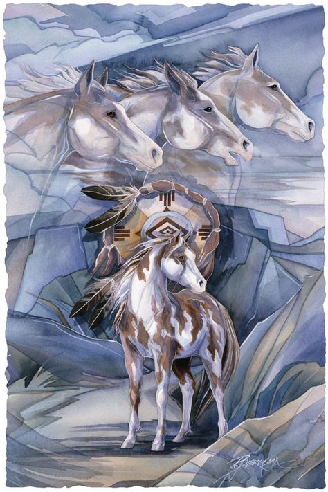 Bergsma Gallery Press::Paintings::Nature::Horses::I Am The Wind - Prints