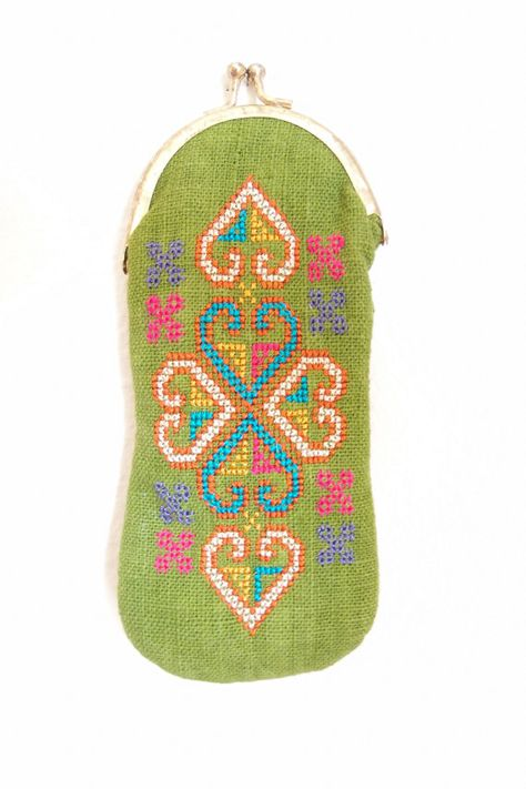 Embroidered pouch with clasp by WestCoastWares on Etsy, $18.00