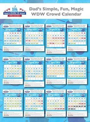 Disney World Crowd Calendars 2020 Dad Knows Disney Viaje