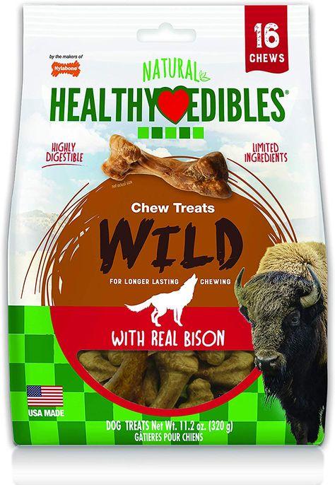Nylabone Healthy Edibles Wild Flavors Dog Chew Treat Bones Small