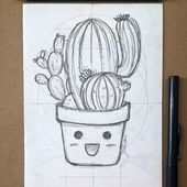 """002 - """"ouch!"""" 🌵 #cactus #cactos #sketch #drawing #sketching - #cactos #Cactus #Drawing #ouch #SKETCH #Sketching"""