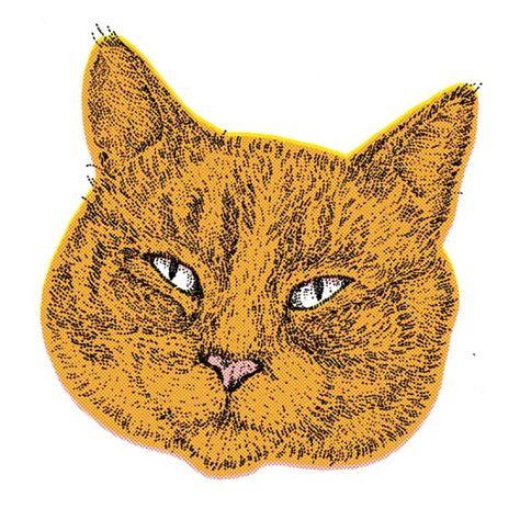 Ginger Cat Print Funny Cat Art Cat Lover Gift 30 X 30 With Images Cat Art Animal Art Cat Art Print