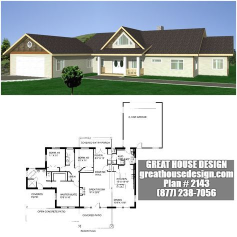 Home Plan 001 2143 Home Plan Great House Design House Plans Icf Home House Design
