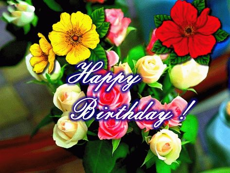 Birthday Roses For You Free Flowers eCards Greeting Cards – Birthday Greetings 123 Greetings