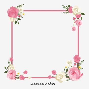 Rectangle Clipart Square Pink Flower Wreath Squares Flower Frame Flower Vector Square Vector Pink Vector Flower Frame In 2021 Flower Frame Vector Flowers Pink Flowers