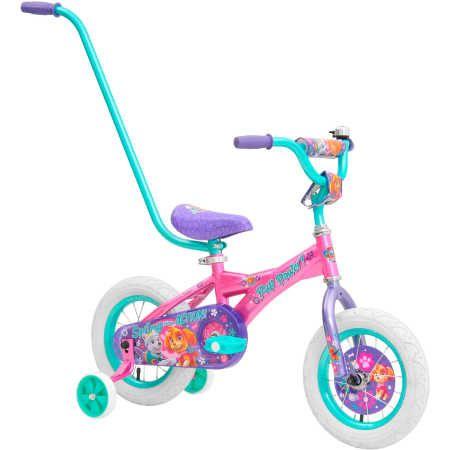 NEW Paw Patrol Skye 30cm Bike with Parent Handle Training Wheels Birthday Gift
