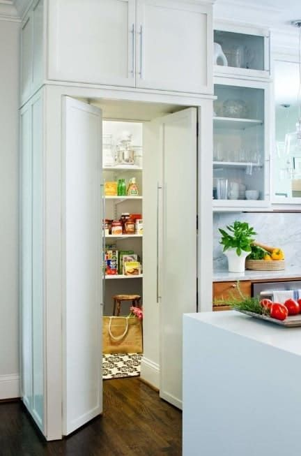 Pin By Annette Foster On Pantry In 2020 Kitchen Pantry Design Pantry Design White Pantry