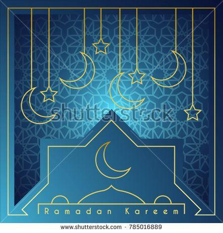 Ramadan Kareem Greeting Card Template Islamic Background Vector Illustration Greeting Card Template Ramadan Ramadan Kareem