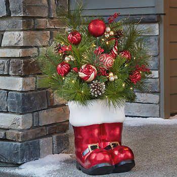 36 Santa Boots Holiday Arrangement Christmas Decorations Outdoor Christmas Lights Holiday Arrangement