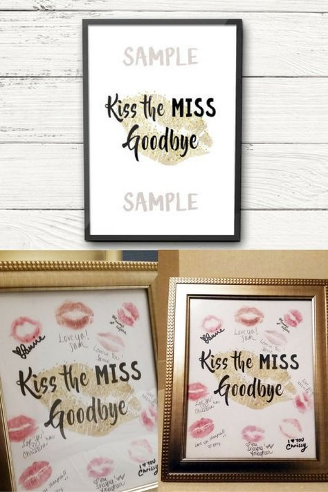 photograph about Kiss the Miss Goodbye Printable identified as Kiss the Pass up Goodbye Print. Individualized Bachelorette Social gathering