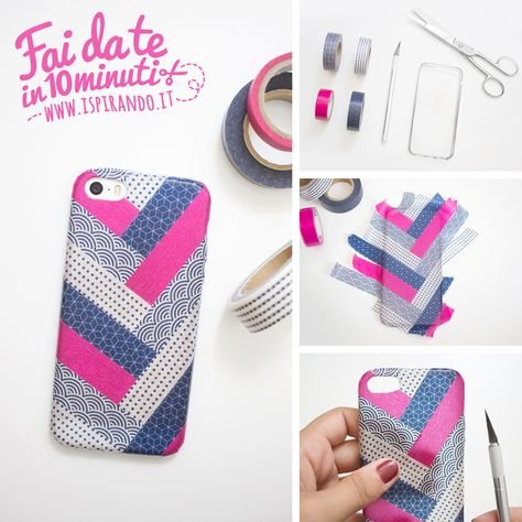 Cover Fai Da Te.Decorare Una Cover Con I Washi Tape Washi Fai Da Te E