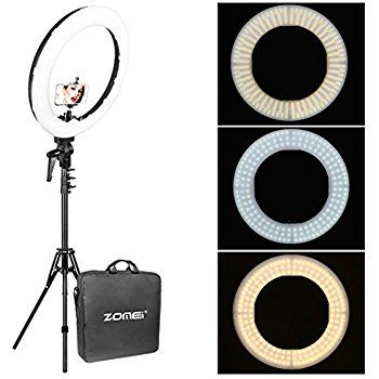 Zomei 12 Inch Inner 14 Inch Outer Led Ring Light 36w 5500k Lighting Kit With Tripod Stand Ball Head And Phone Adapter Fo Led Ring Light Led Ring Phone Adapters
