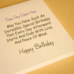 Friend Name Write Birthday Greeting Card Picture Online Editor Birthday Greeting Cards Birthday Card With Name Best Friend Birthday Cards