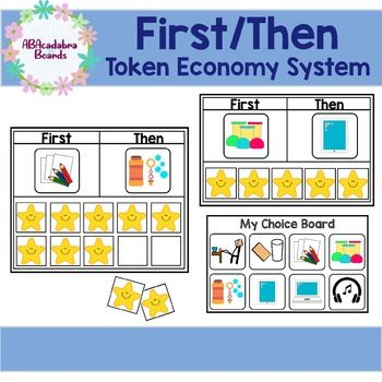 First Then Token Economy System Boards Token Economy Token Board Token