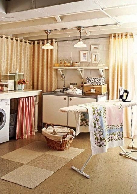10 Creative Basement Laundry Room Ideas For Your Home With