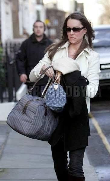 Kate Middleton and Louis Vuitton Monogram Denim Neo Speedy Bag ... b70a4957c34ad