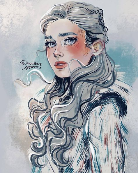 Game of Thrones - Daenerys Targaryen by Sarah Moustafa Game Of Thrones Funny, Game Of Thrones Art, Dnd Characters, Fantasy Characters, Fanart, Character Inspiration, Character Art, Game Of Trones, Mother Of Dragons