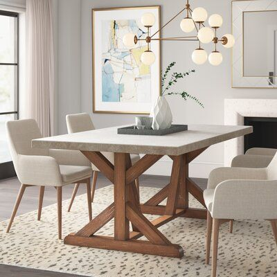 Garraway Dining Table In 2020 Concrete Dining Table Dining