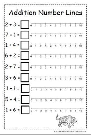 Free Number Line Addition Worksheets By Moscardo Kindergarten Math Numbers Addition Kindergarten Numbers Kindergarten Addition worksheets with number line